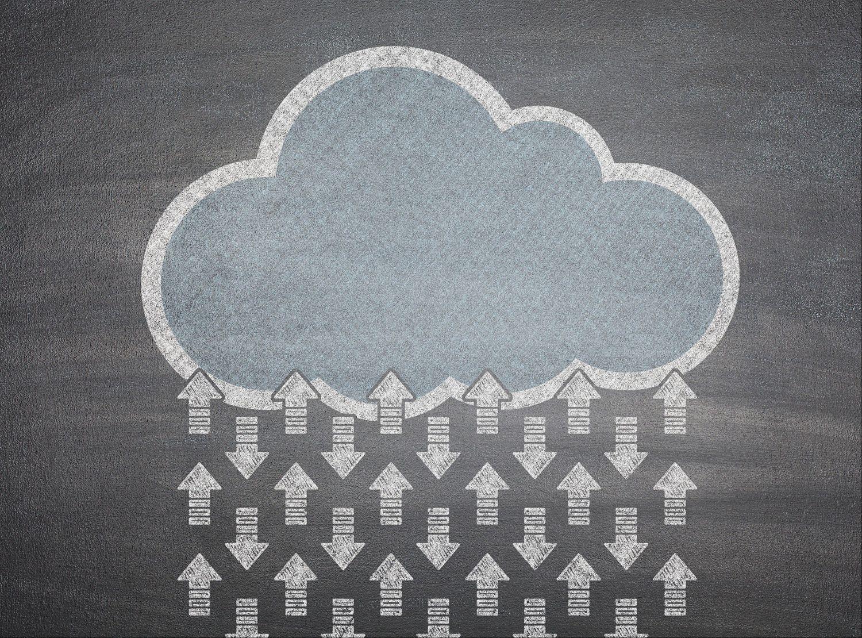Symbolbild einer Wolke für Cloud Security