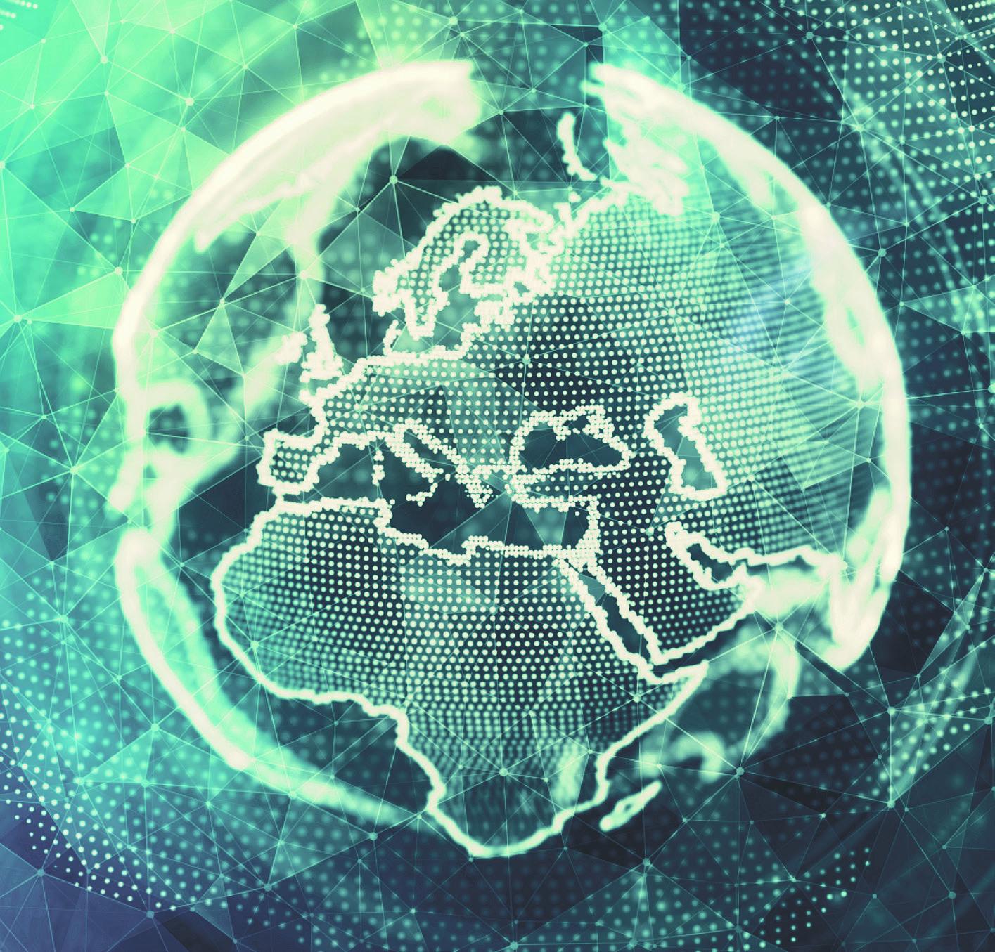 Abstrahierte Darstellung des Globus