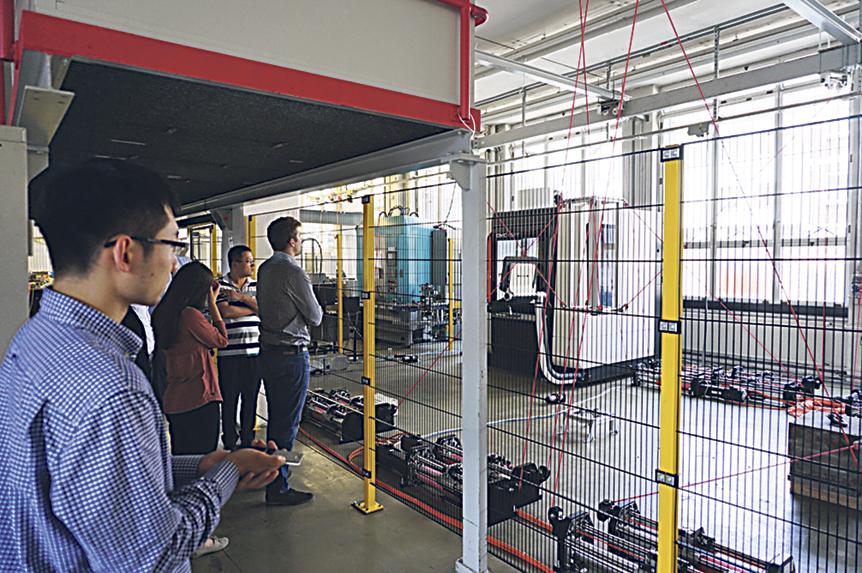 Das Innere der Graduate School of Excellence advanced Manufacturing Engineering in Stuttgart
