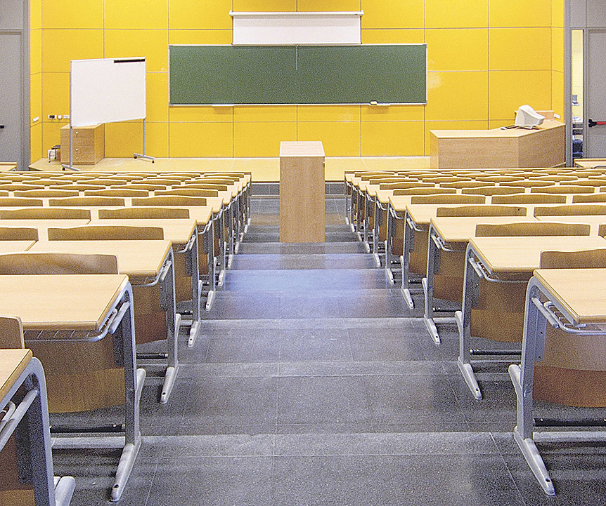 Blick in einen Seminarraum