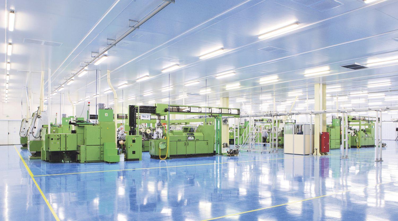 Das Innere einer Fabrik