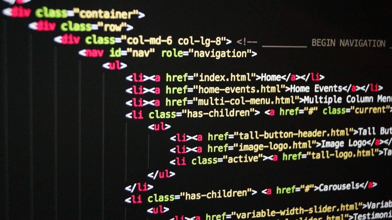 Ausschnitt eines HTML-Codes